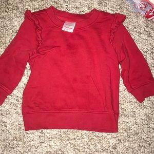 Red Hanna Andersson sweatshirt